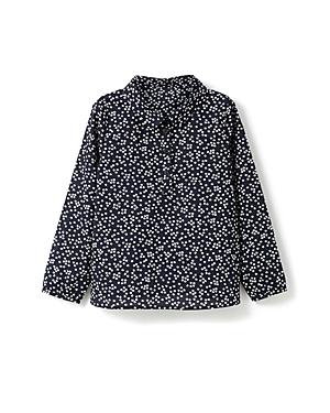 Jacadi Girls Flower Print Poplin Blouse  Sizes 36