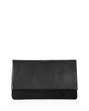 KAREN MILLEN - Brompton Leather and Suede Clutch
