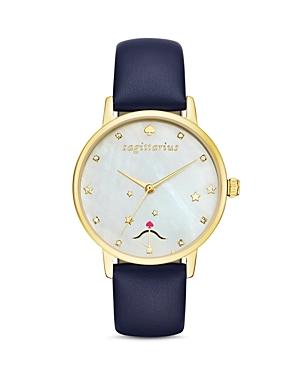 kate spade new york Sagittarius Metro Leather Strap Watch, 34mm