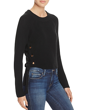 Endless Rose Lace-Up Sweater