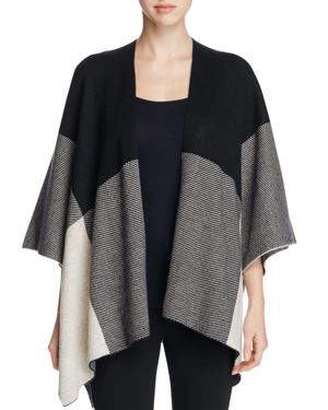 Sioni Color-Block Poncho