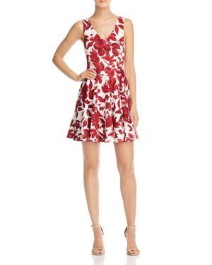 Aqua Floral V-Neck Scuba Dress - 100% Exclusive 1796461