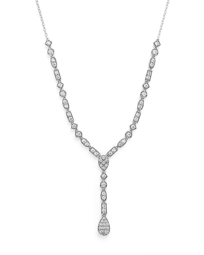 Bloomingdale's - Diamond Y Necklace in 14K White Gold, 2.0 ct. t.w.- 100% Exclusive