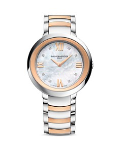 Baume & Mercier Promesse Diamond Two Tone Watch, 34mm - Bloomingdale's_0