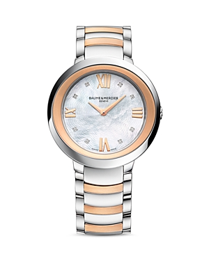 Baume & Mercier Promesse Diamond Two Tone Watch, 34mm