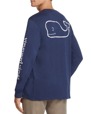 Vineyard Vines Whale Graphic Long Sleeve Pocket Tee