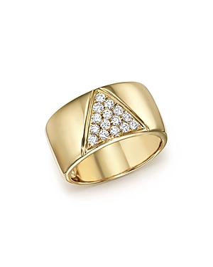 Diamond Pave Cigar Band in 14K Yellow Gold, .35 ct. t.w. - 100% Exclusive