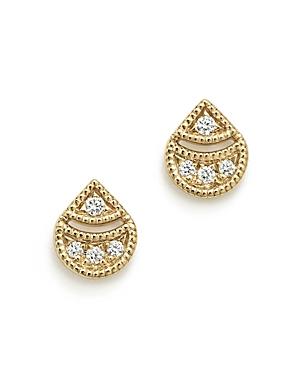 Dana Rebecca Designs 14K Yellow Gold Rochelle Jo Teardrop Diamond Earrings