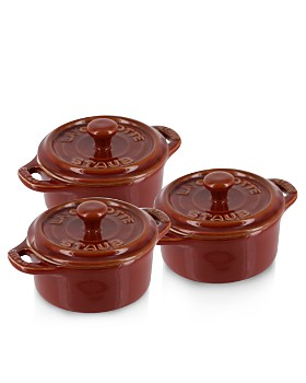 "Staub - Rustic Round Mini 4"" Cocotte, Set of 3"