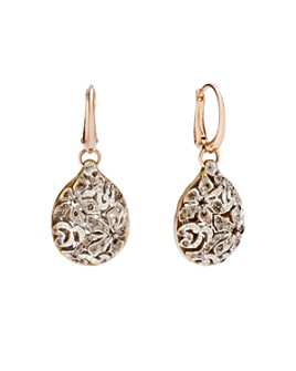 Pomellato - Arabesque Earrings with Brown Diamonds in 18K Rose and White Gold