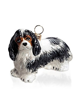 Joy to the World - Cavalier King Charles Tricolor Ornament