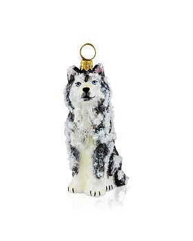 Joy to the World - Siberian Husky with Snow Ornament