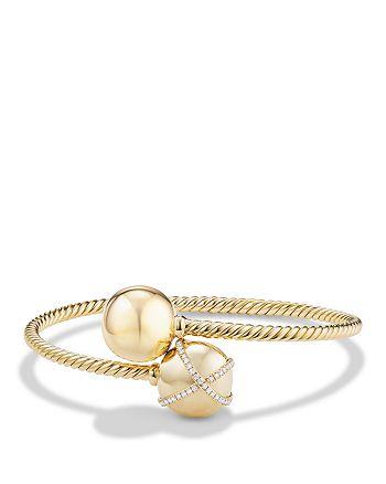 David Yurman - Solari Bypass Bracelet with Diamonds in 18K Gold