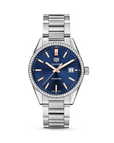 TAG Heuer Carrera Diamond Bezel Watch, 39mm - Bloomingdale's_0