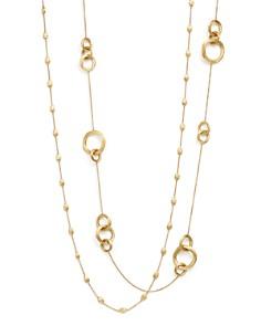 "Marco Bicego - 18K Gold Siviglia Small Bead Necklace, 39"""
