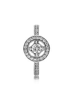PANDORA - Ring - Sterling Silver & Cubic Zirconia Vintage Allure