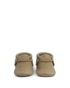Freshly Picked - Unisex Fringed Leather Moccasins - Baby