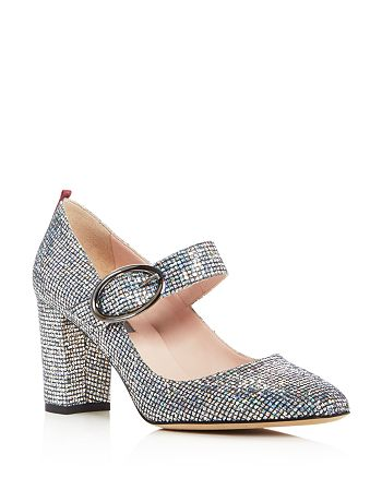 SJP by Sarah Jessica Parker - Women's Austen Glitter Mary Jane Pumps