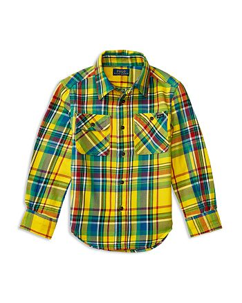13a0af325 Ralph Lauren Boys' Madras Plaid Twill Shirt - Little Kid ...