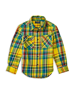 Ralph Lauren Childrenswear Boys' Madras Plaid Twill Shirt - Little Kid