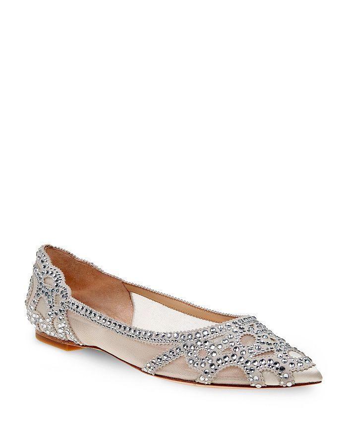 1f8c20ae382 Badgley Mischka - Women s Gigi Embellished Pointed Toe Flats