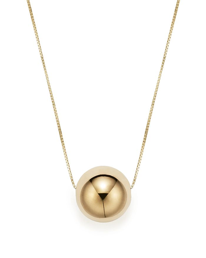 "Bloomingdale's - 14K Yellow Gold Bead Pendant Necklace, 18"" - 100% Exclusive"
