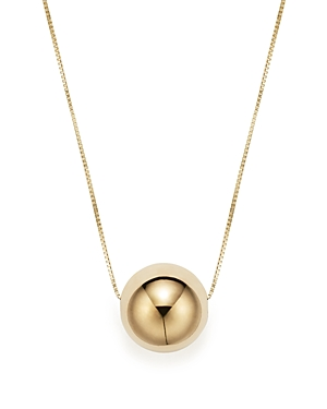 14K Yellow Gold Bead Pendant Necklace, 18 - 100% Exclusive