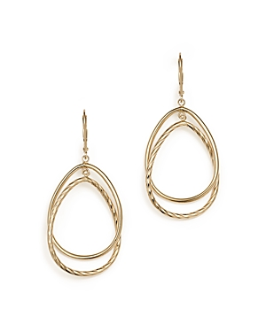 14K Yellow Gold Double Interlock Round Drop Earrings - 100% Exclusive