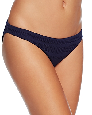 Shoshanna Crochet Stripe Classic Bikini Bottom