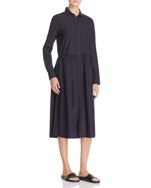 Vince Shirred Shirt Dress