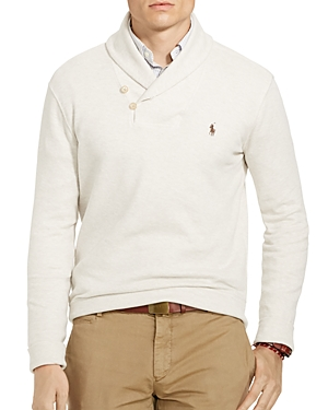 Polo Ralph Lauren Ribbed Cotton Shawl Collar Sweater