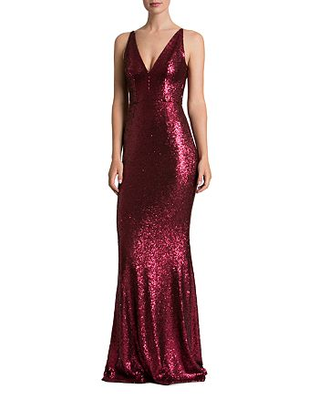 Dress the Population - Sequin Gown