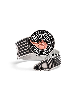 Alex and Ani Carry Light Men's Spoon Ring