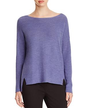 Eileen Fisher Drop Shoulder Merino Wool Sweater