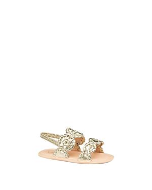 Jack Rogers Girls' Medallion Metallic Slingback Sandals - Baby
