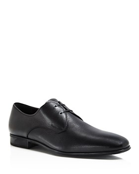 Salvatore Ferragamo - Men's Fortunato Textured Leather Lace Up Derbys