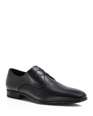 Salvatore Ferragamo Men's Fortunato Textured Leather Lace Up Derbys