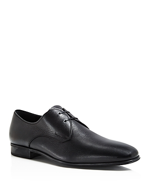 Salvatore Ferragamo Textured Leather Lace Up Derbys