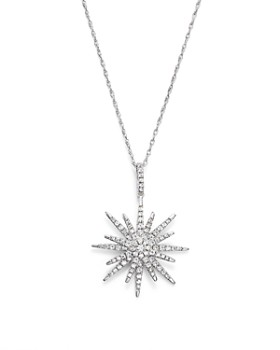 Bloomingdale's - Diamond Starburst Pendant Necklace in 14K White Gold, .55 ct. t.w.- 100% Exclusive
