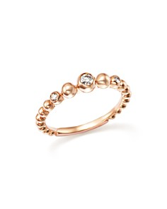 Bloomingdale's - Diamond Beaded Band in 14K Rose Gold, .10 ct. t.w. - 100% Exclusive