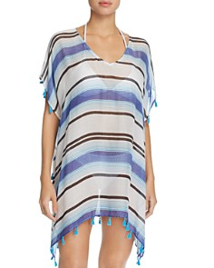 Surf Gypsy - Stripe Tassel Tunic Swim Cover-Up