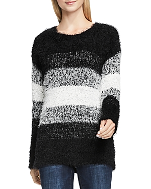 Two by Vince Camuto Striped Eyelash Sweater