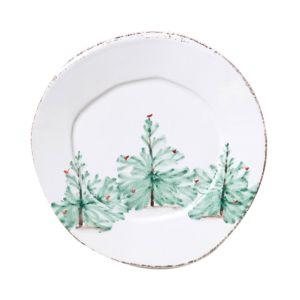 Vietri Lastra Holiday Salad Plate