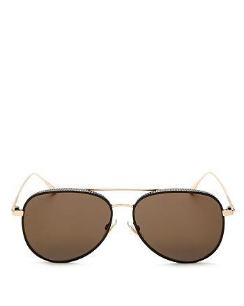 Jimmy Choo - Women's Reto Aviator Sunglasses, 57mm