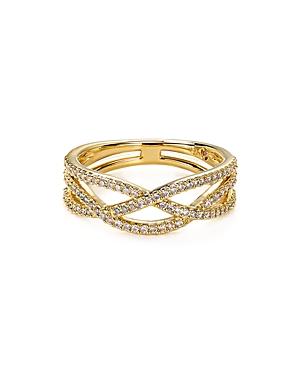 Nadri Pave Braid Ring