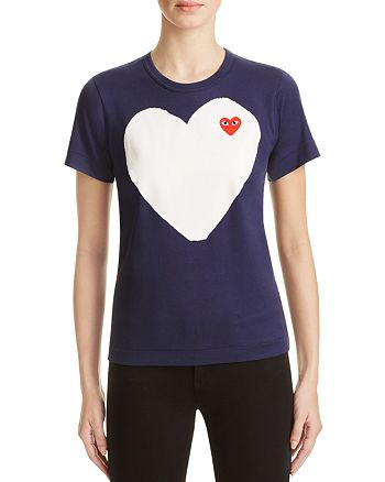 Comme Des Garcons PLAY - Heart Tee