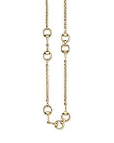 "Gucci 18K Yellow Gold Horsebit Necklace, 35.4"" - Bloomingdale's_0"