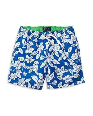 Ralph Lauren Childrenswear Boys Captiva Floral Print Swim Trunks  Sizes 27