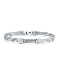 ALOR Diamond Gray Cable Bangle - Bloomingdale's_0