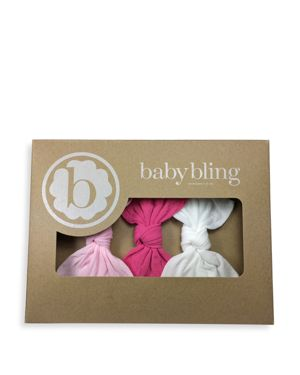 Baby Bling Infant Girls' Knot Headbands - Box Set of 3 thumbnail